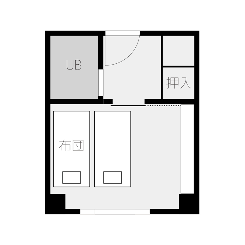 和室6畳平面図
